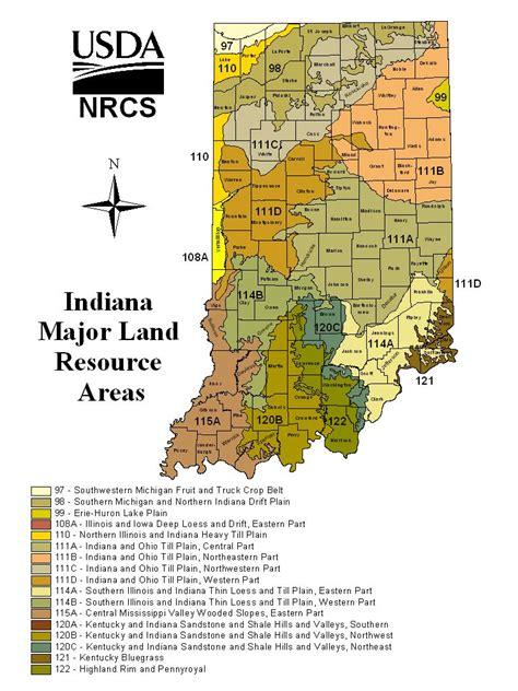 indiana major land resource areas mlra nrcs indiana