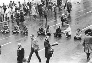 War protest 1960s anti war demonstration sit down across clay street