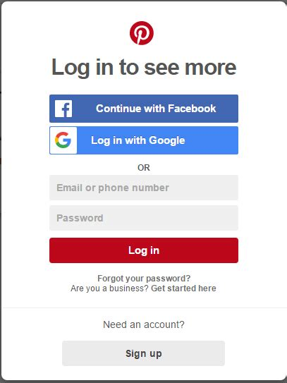 pinterest login account login www loginhelps org