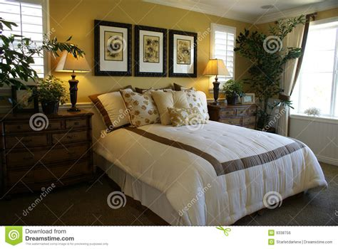 beautiful yellow bedrooms beautiful yellow master bed room royalty free stock image image 9338756
