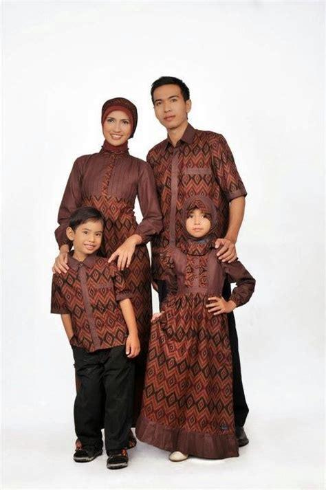 desain gamis batik ibu dan anak busana muslim couple keluarga ayah ibu dan anak model