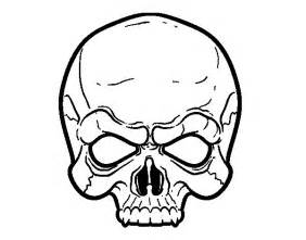 Mean Scary Skull Coloring Pages sketch template
