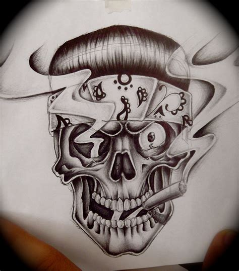skull bandana tattoo designs skull with bandana drawing at getdrawings free for