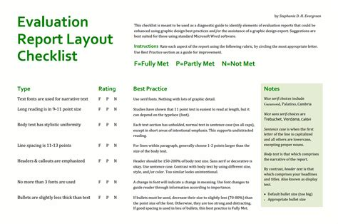 report layout definition 6 7 evaluation report kfcresume