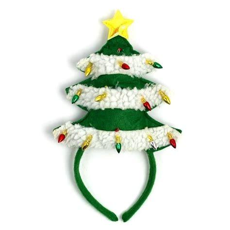 festive light up hairbands christmas tree headband