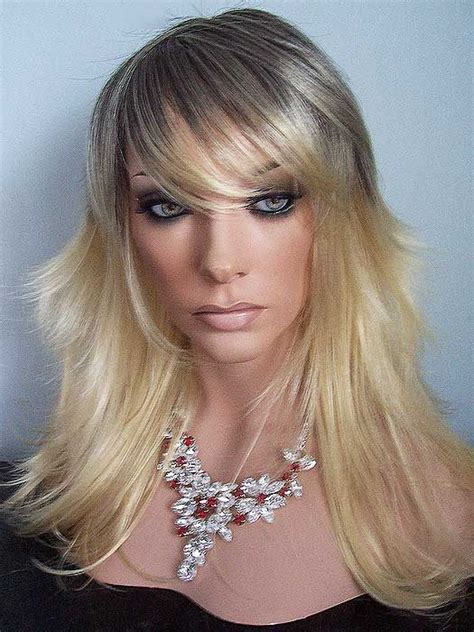 long choppy bangs center part 17 best images about our personal favorite drag wigs on