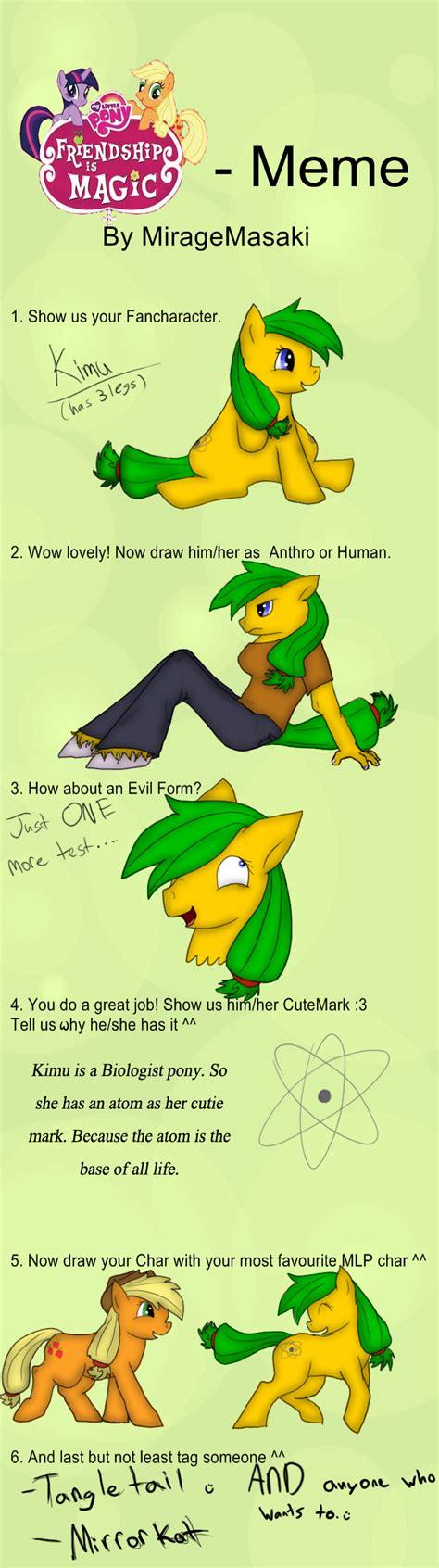 Mlp Fim Memes - mlp fim fancharacter meme by thedragonfreak77 on deviantart