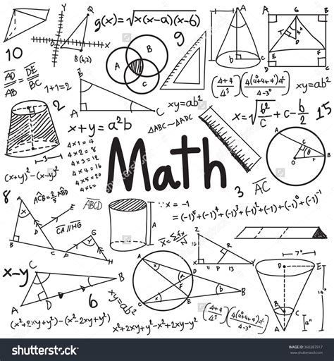 doodle your math book math theory and mathematical formula equation doodle