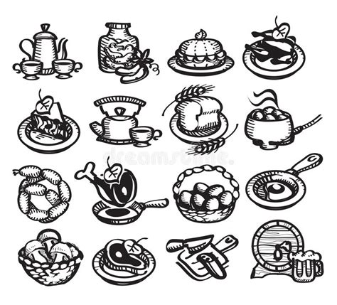 uzbek food stock photos royalty free images vectors food icons vector illustration stock vector image 30799598