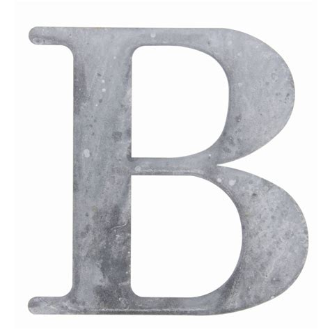 Letter Grey Weathered Grey Tin Letter Quot B Quot 10 Quot H