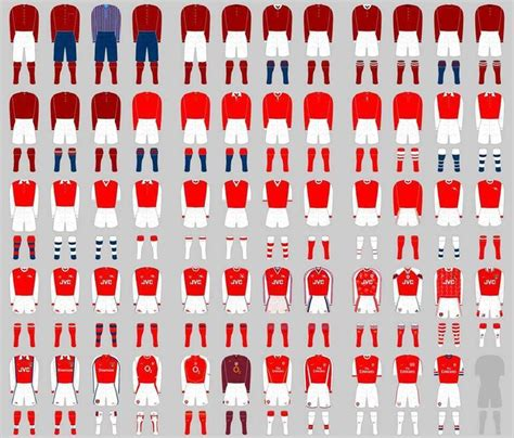 arsenal home record every arsenal home kit arsenal pinterest