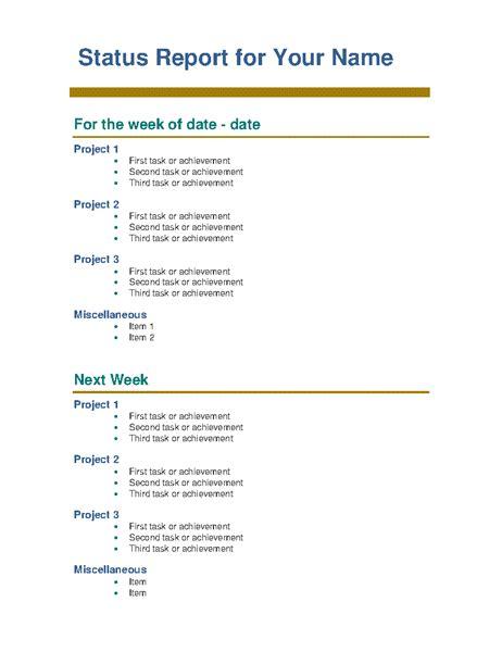 monthly progress report template resume