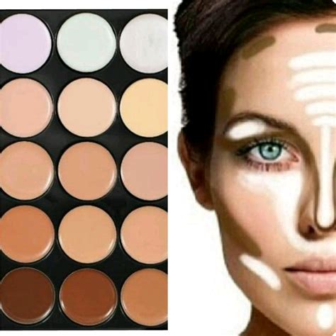 Harga Makeover Professional Highlight Contour Palette new camouflage contouring concealer palette 15 mac