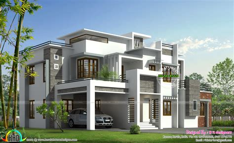 house models and plans box model contemporary house kerala home design and