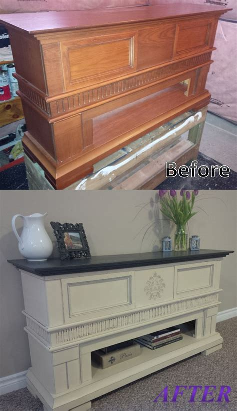 chalk paint mantle fireplace mantle turned side table before and after