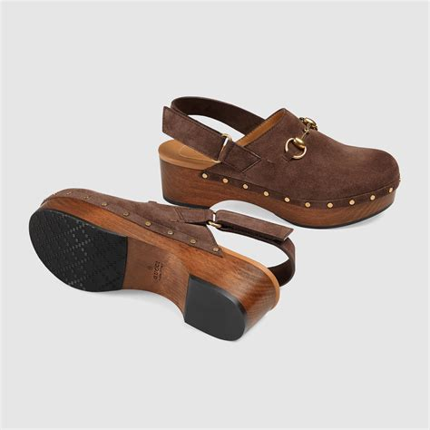 brown clogs for gucci amstel clog in brown lyst