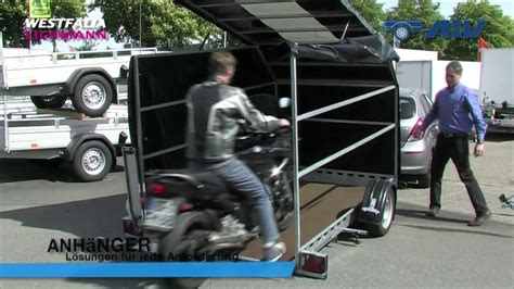 Motorrad Transport Befestigung by Anh 228 Nger F 252 R Motorradtransport Und Autotransport