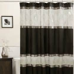 embroidered circles shower curtain w sheer borders black