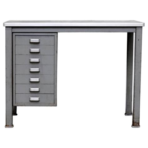Small Metal Desk Small Metal Industrial Desk For Sale At 1stdibs