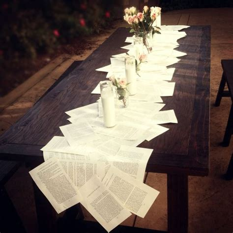 23 book inspired wedding decorating ideas pretty designs