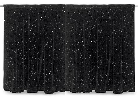 black sparkle curtains sequin applique curtains from rose brand