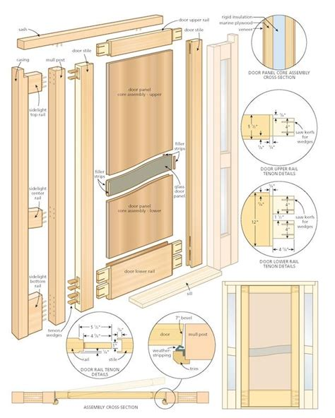 Build Front Door Build Door Assembling Diy Wood Closet Doors