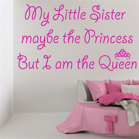 my little sister wall sticker art quote decal girls