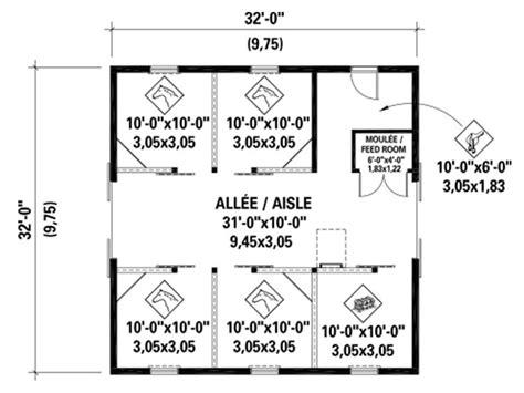 large horse barn floor plans barn plans horse barn plan with loft 072b 0003 at