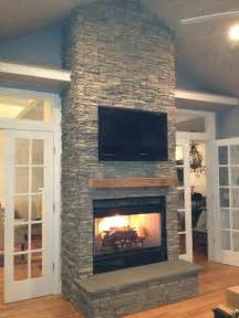 stacked fireplace ideas stacked stone fireplace