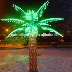 decorative large artificial led outdoor lighted palm trees