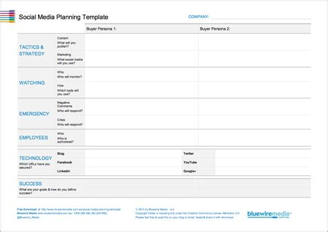 How To Create A Social Media Plan Step By Step Social Media Plan Template