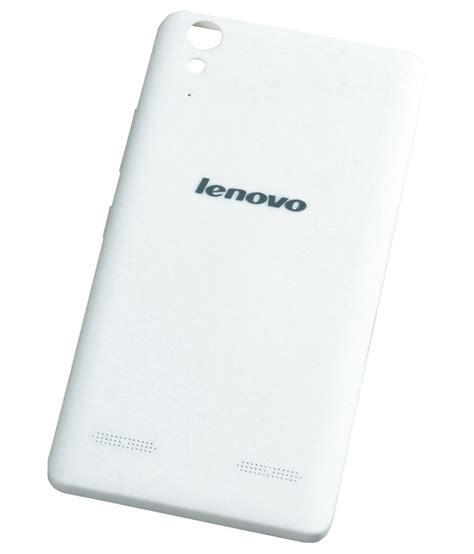 Lenovo A6000 Plus White sec back panel cover for lenovo a6000 plus white buy sec back panel cover for lenovo a6000