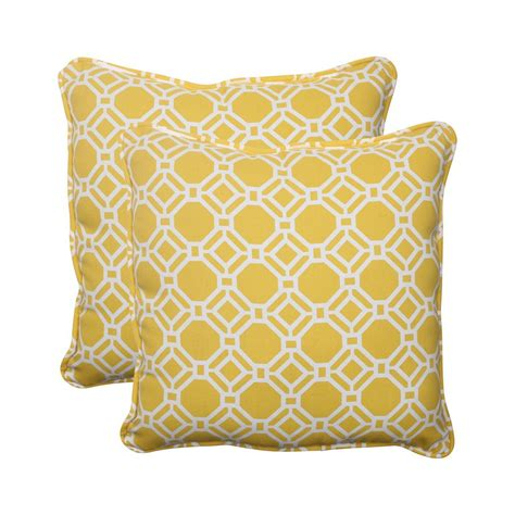 Outdoor Pillows Lowes by Shop Pillow Rossmere 2 Pack Yellow Geometric