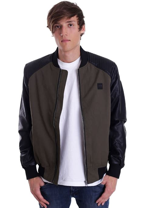 Gazr R Bomber Black Jacket For classics cotton bomber leather imitation sleeve olive black jacket streetwear shop