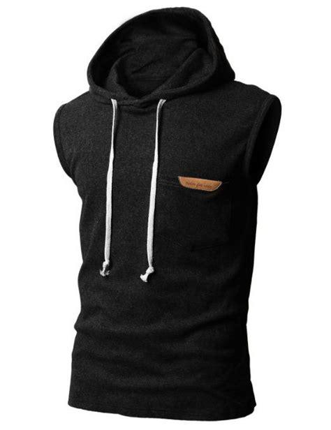 Sleeveless Hoodie Fox Cloth h2h mens sleeveless fashion hoodies with pocket black asia m jpsk13 kmt11