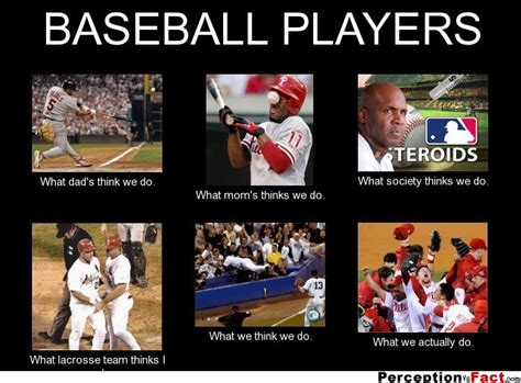 Squidward Baseball Bat Meme - baseball players what people think i do what i really do perception vs fact