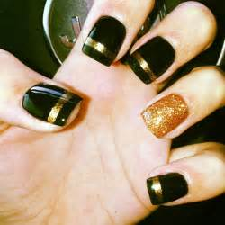gallery for gt gold and black nail designs
