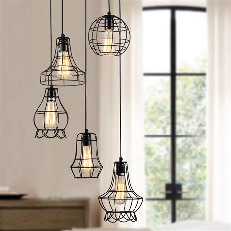 Wiring For Pendant Lights Klemon Metal Wire Cage Hanging L