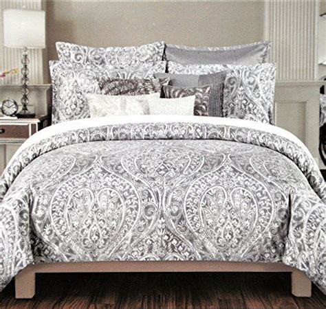 tahari home king comforter set grey sateen duvet cover roselawnlutheran