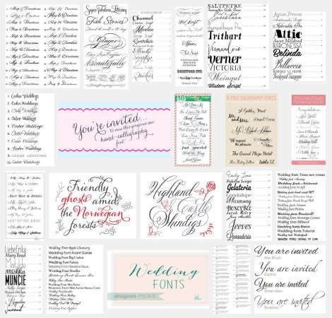 Wedding Font Combinations Free by Web Font Etc