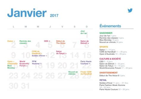 sle marketing calendar le calendrier marketing de l 233 e 2017 planthemoment
