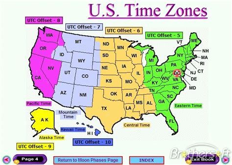 map of usa with states and timezones search results for state united printable us time zone