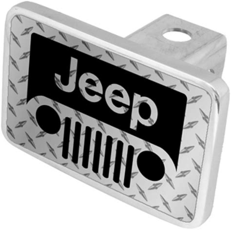 Jeep Trailer Hitch Cover Hossrods Jeep Quot Grille Quot Trailer Hitch Cover Jeep