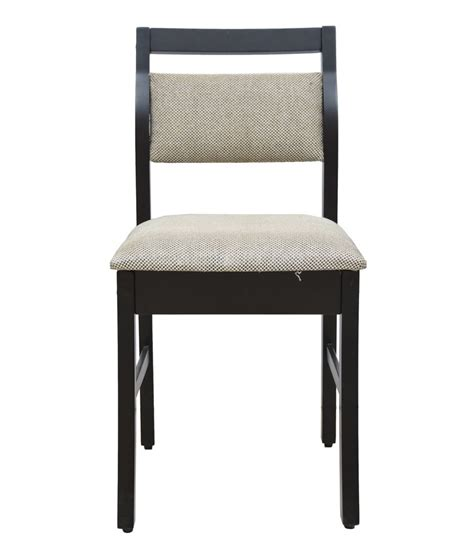 dining chair with cushion back in rosewood finish buy