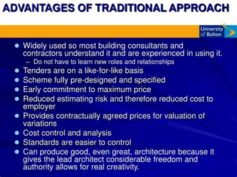 design and build contract advantages and disadvantages ppt ppt traditional methods of procurement tendering