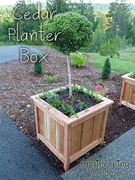 Make Planter Box by How To Make Beautiful Large Cedar Planter Boxes
