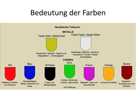 Bedeutung Farben Bei by Heraldik Farben Ppt Herunterladen