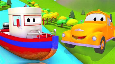 un barco animado tom la gr 250 a y el barco en auto city dibujos animados