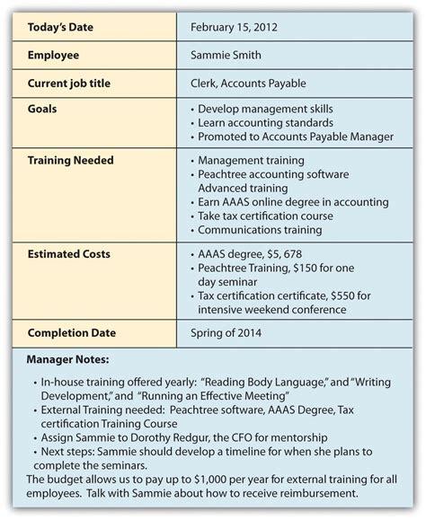 employee training plan template template ideas
