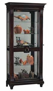 Large Cherry Curio Cabinet Howard Miller 680 539 Brenna Curio Cabinet In Cherry The